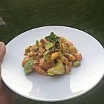 Salada / Kimuchi de salmão manga e abacate